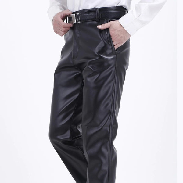 Black Eco-leather Trousers
