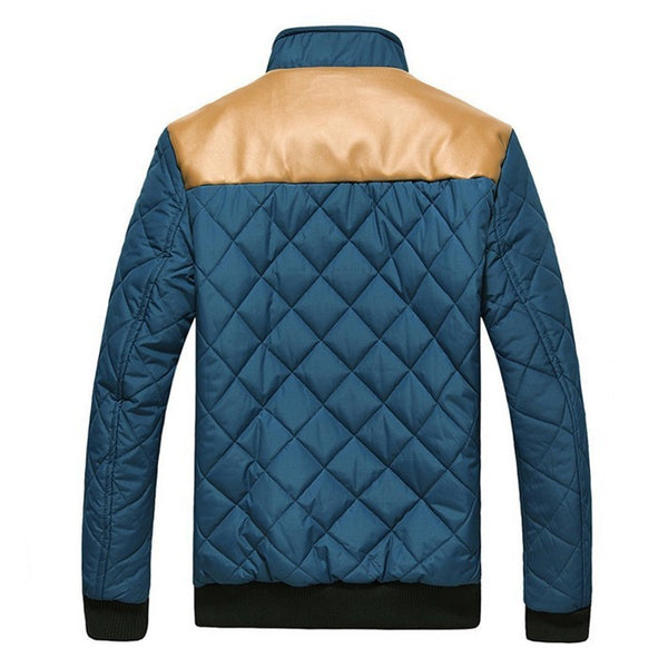 Patchwork Jacket available in 4 colors Green/ Blue/ Khaki/ Black