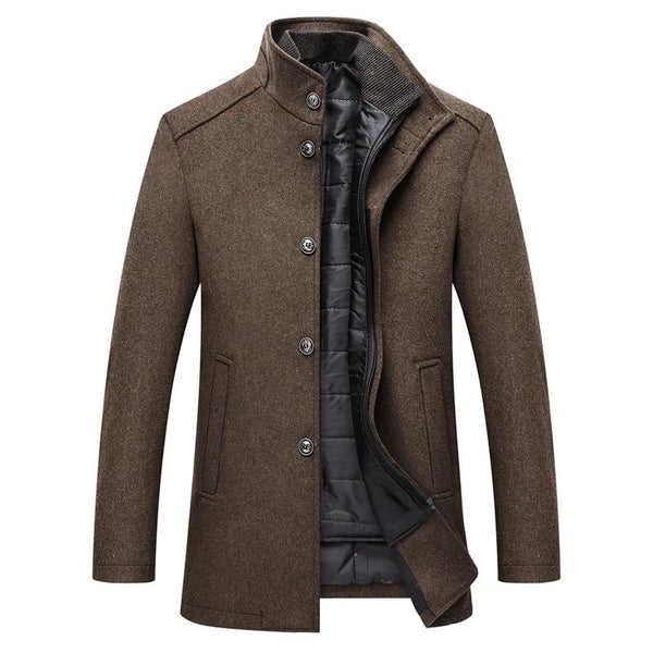 Woolen Coat with Vest