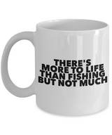Fishing Coffee mug - There's more to life than fishing but not much