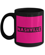 Nashville City Coffee Mug - NASHVILLE - Best Gift for Travelers