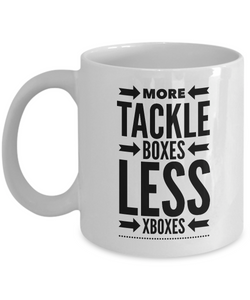 Fishing Coffee mug - More tackle boxes less xboxes
