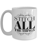 Embroidery Coffee mug - Stitch all the things