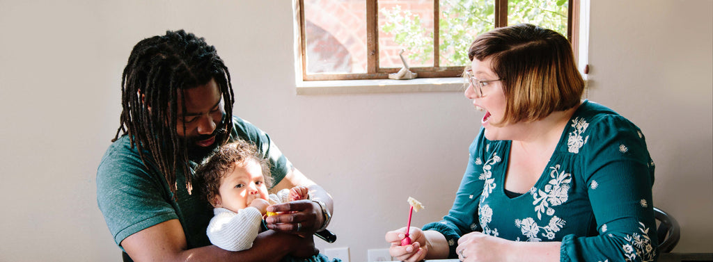 A family with a picky toddler and baby using Picky Eaters