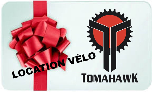 Certificat cadeau LOCATION VÉLO / gift card BIKE RENTAL - Tomahawk Cycles