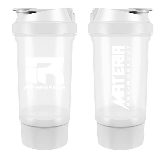 PR-BREAKER 500ml Premium Shaker Bottle WHITE/WHITE