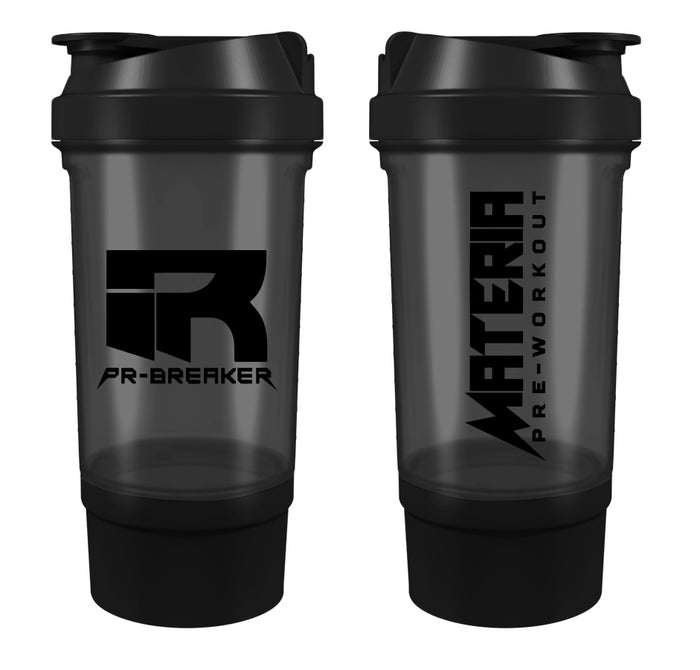PR-BREAKER 500ml Premium Shaker Bottle BLACK/BLACK