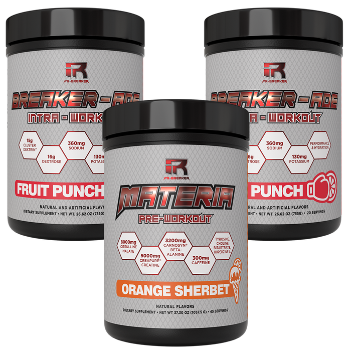 ~Combo: 40 Workout Stack 2X BREAKER-ADE + 1X Orange Sherbet MATERIA (Save $10)