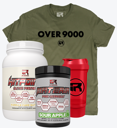 ULTIMATE PR COMBO: 1 MATERIA + 1 HITPOINT + 1 SHIRT + 1 SHAKER (Save $15)