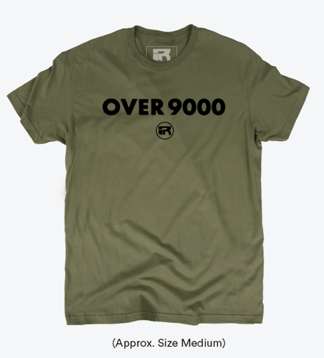 ~CLOTHING: Men's FITTED OVER 9000 T-SHIRT