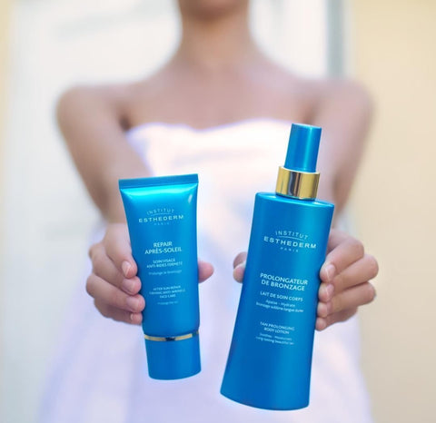 institute of esthederm self tanners spf and aftersun lotion