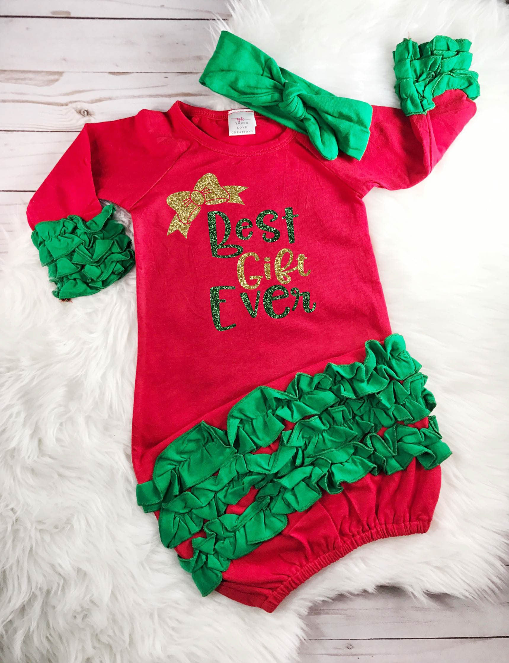 Best Gift Ever Outfit Baby Girl Christmas Outfit Baby\'s First ...