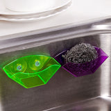Double Suction Sink Kitchen Sponge  Storage