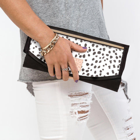 PRETTY BRAVE 'THE ROUNDABOUT' CHANGE MAT  CLUTCH - WILD SPOTS Global Baby