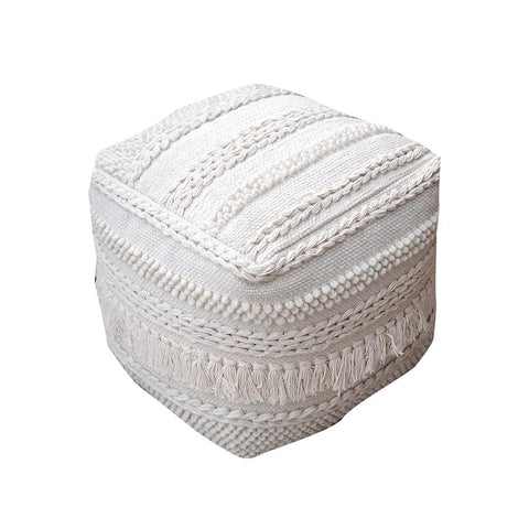 The Importer Pamir Pouffe - Ivory