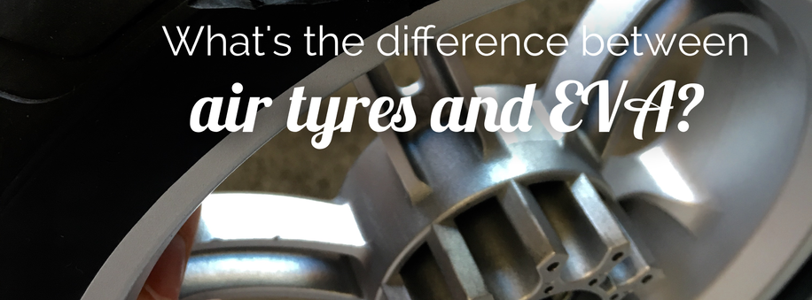 What's the difference between air tyres and EVA?