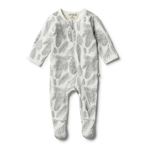 Wilson + Frenchy - Organic Little Spruce Zipsuit