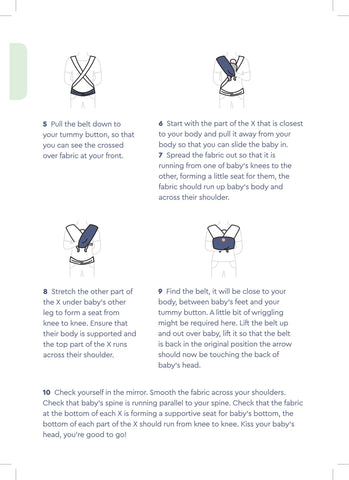 oohbubs baby wrap instructions 1