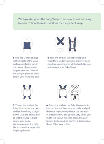 oohbubs baby wrap instructions