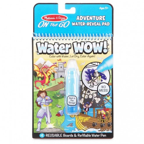 Melissa & Doug - Water Wow Reusable Colouring Book - Adventure