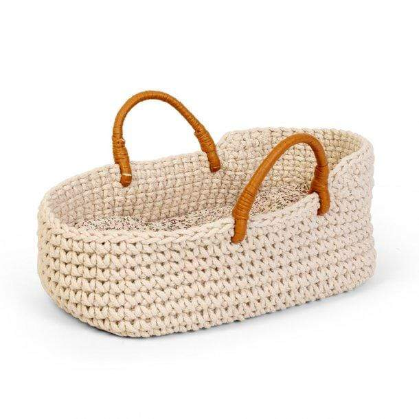 Astrup - Doll Knitted Basket and Bedding Set