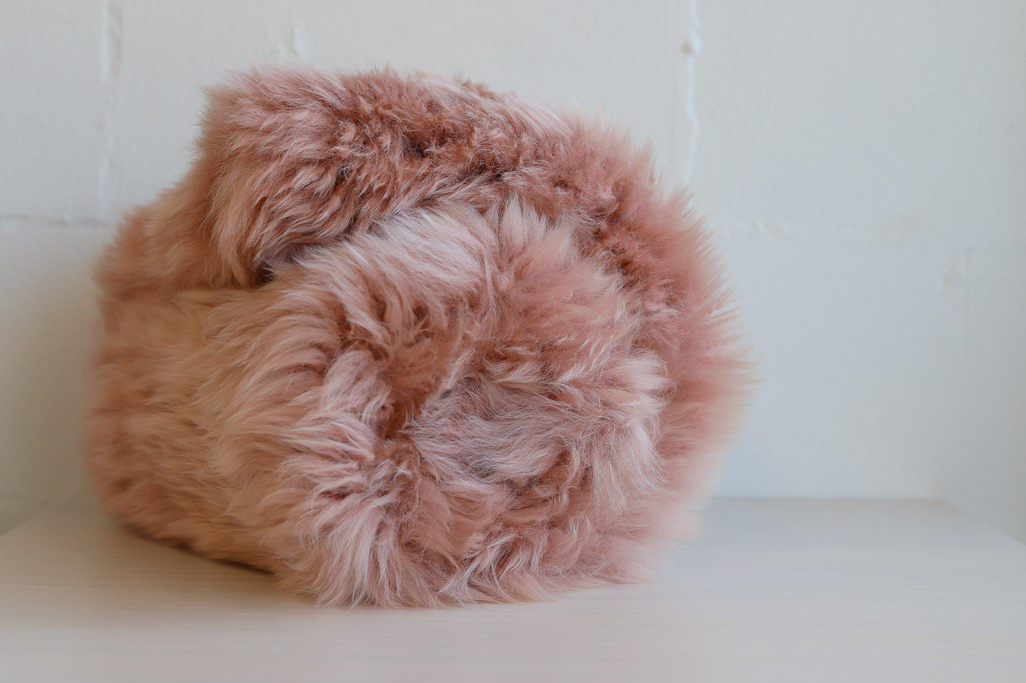 Auskin Sheepskin Rug - Dark Rose