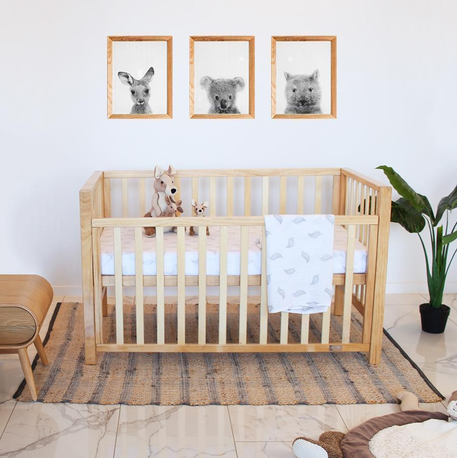 Babyhood Lulu Cot - Natural