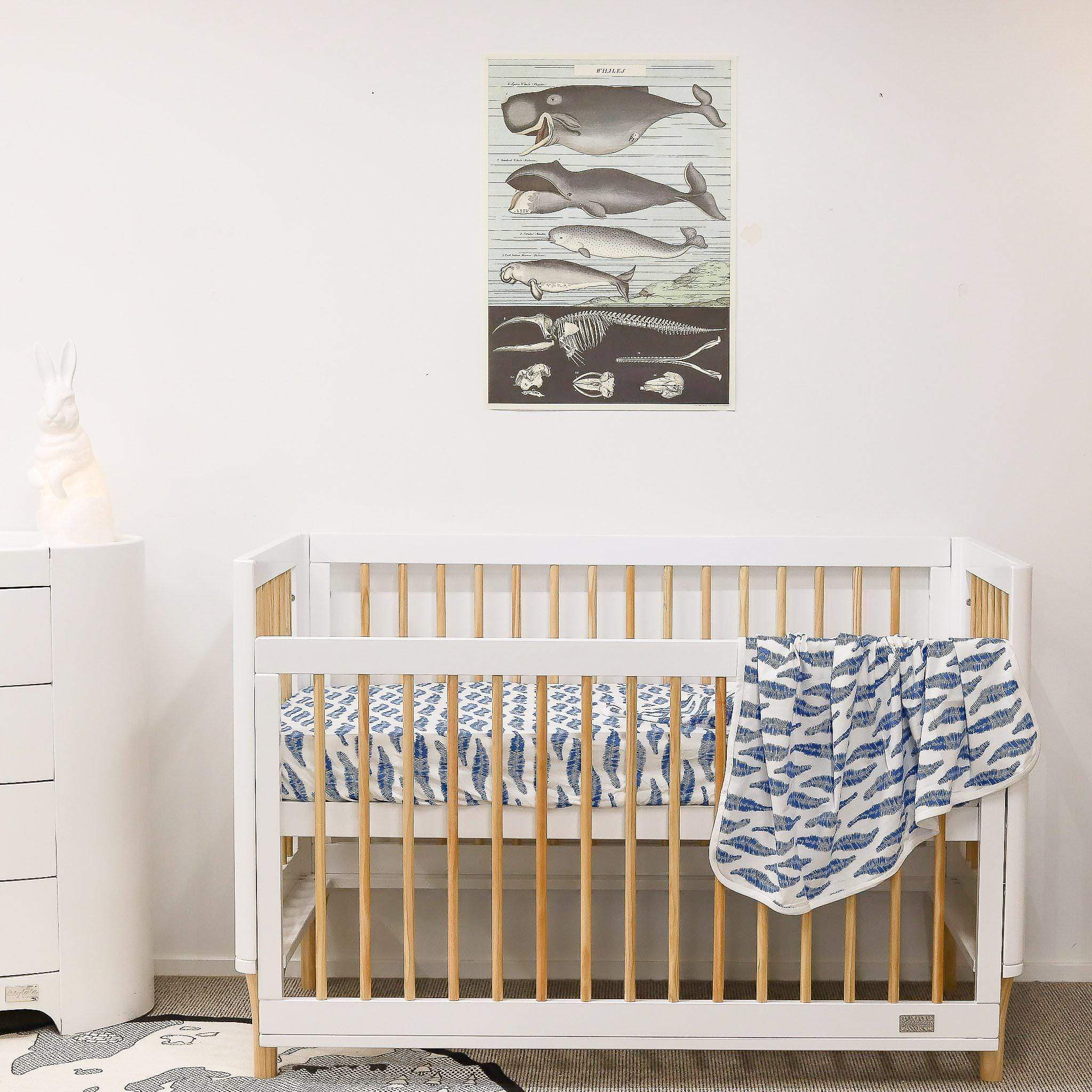 Babyhood Riya 5 in 1 Cot - White