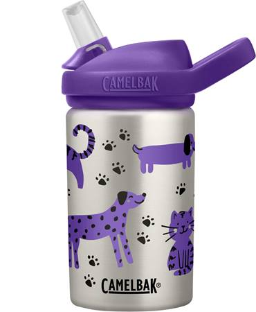 CamelBak Eddy+ Kids Stainless Steel Bottle - 0.4L- Cats and Dogs