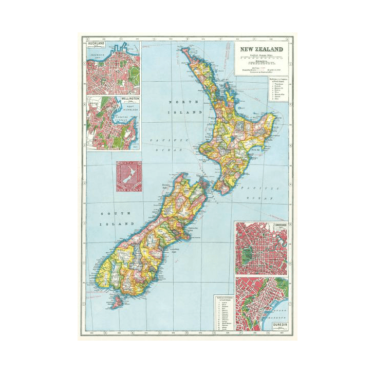 Cavallini & Co NZ Map Wrap Poster