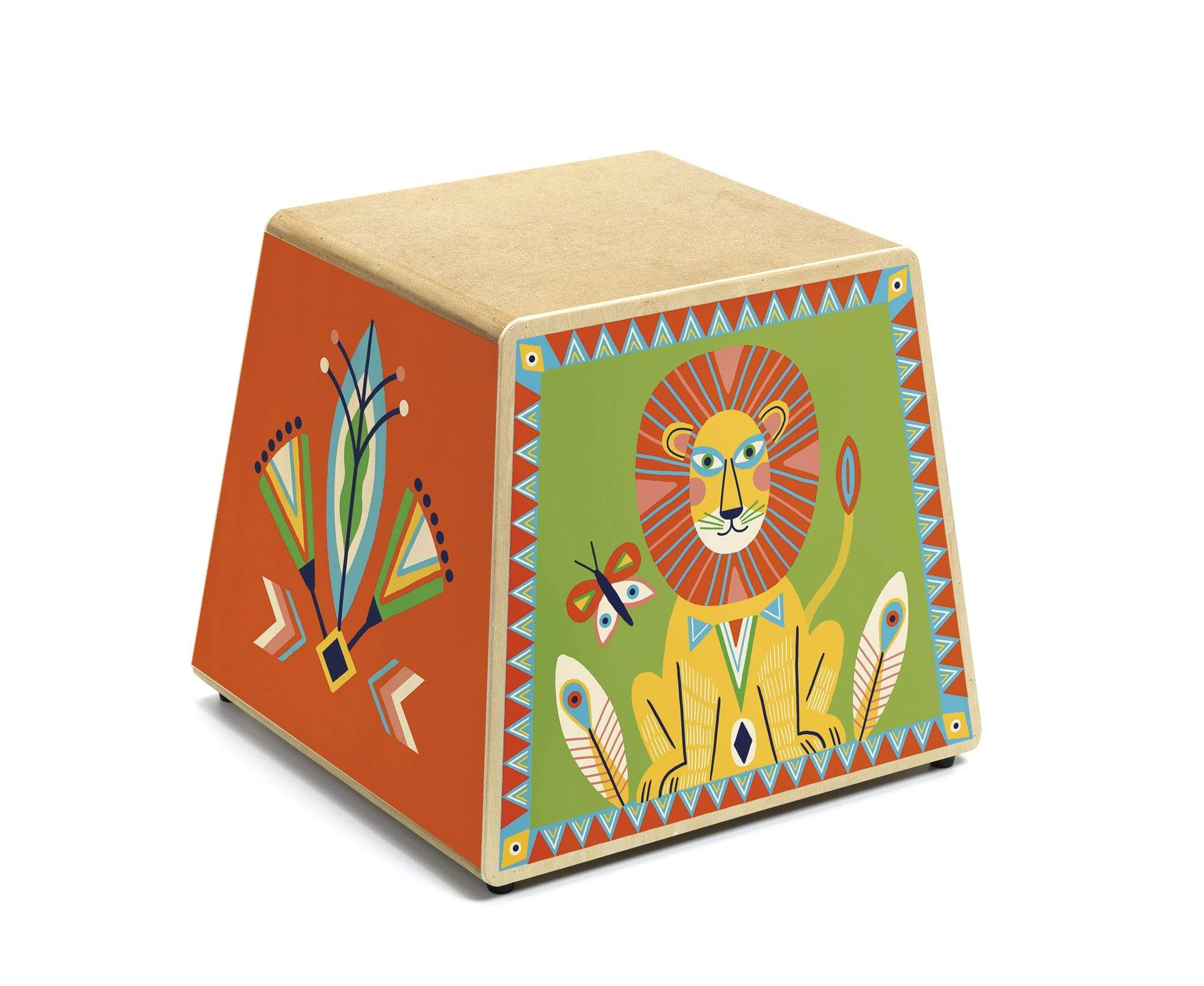 Djeco Animambo Cajon - Wooden Drum with Multiple Sounds