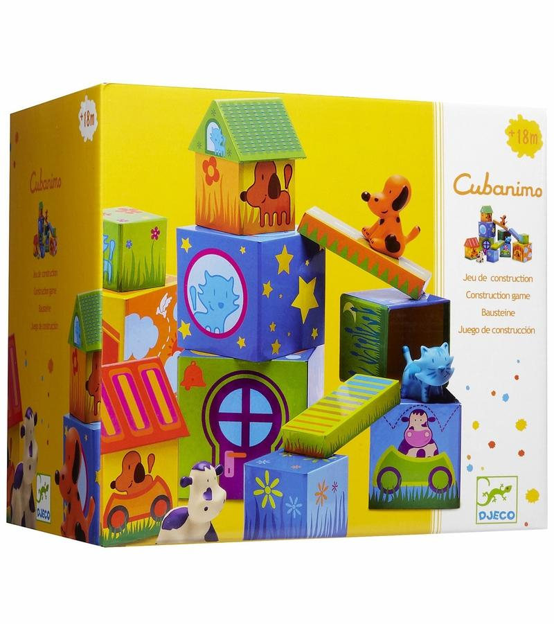 Djeco Cubanimo - Animal and Block set