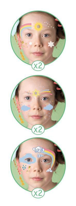 Djeco Face Paint Set Rainbow