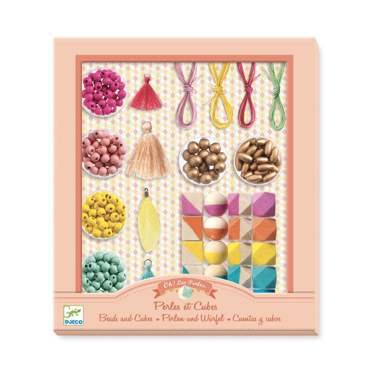 Djeco Oh! Les Pearles Beads and Cubes Jewellery Kit