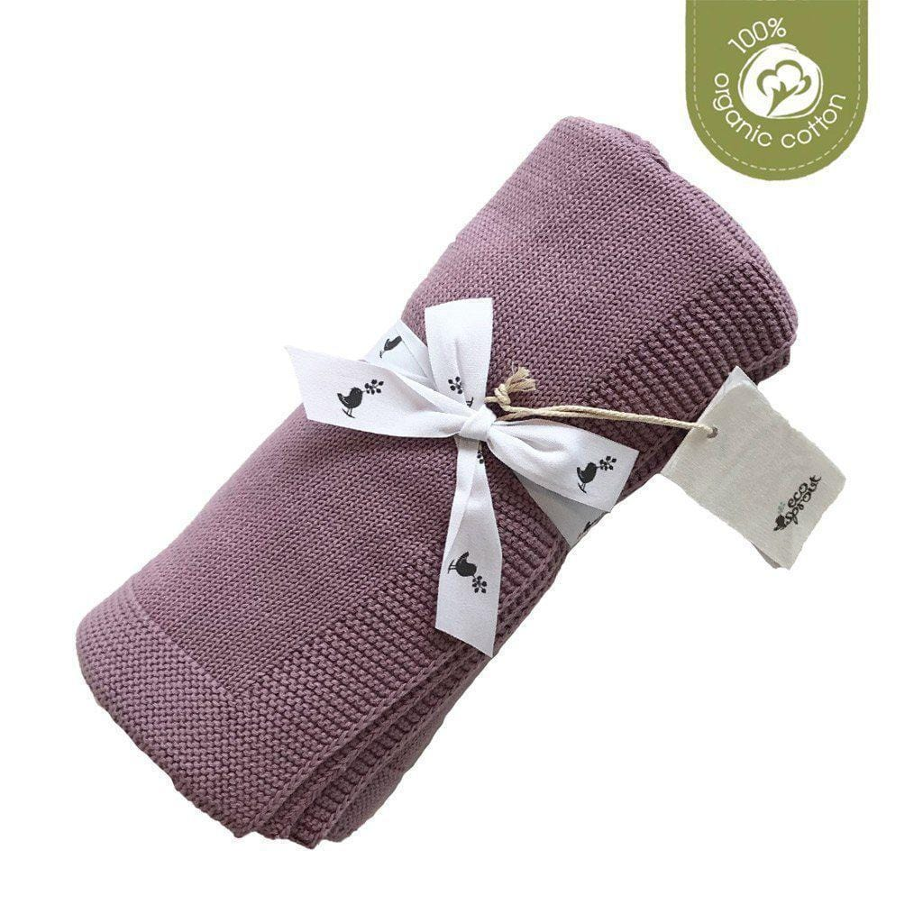 EcoSprout Organic Cotton Sweet Dreams Baby Cot Blanket - Rose