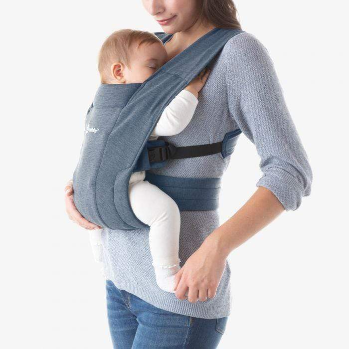 Ergobaby Embrace Carrier - Oxford Blue-Baby Wearing-Global Baby