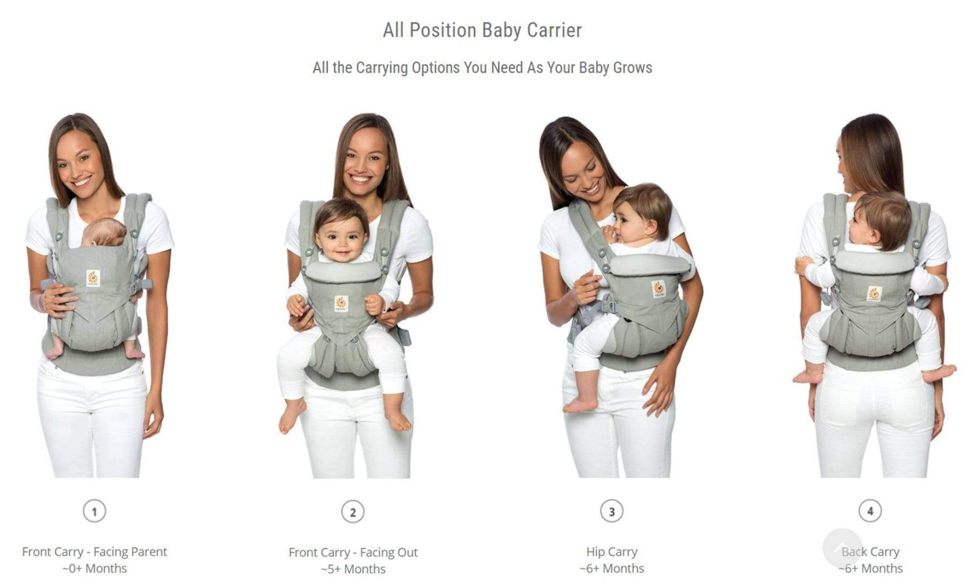 Ergobaby Omni 360 Carrier Cool Air Mesh - Khaki Green