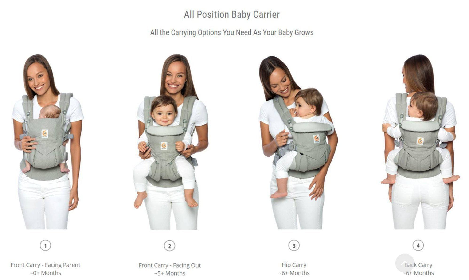 Ergobaby Omni 360 Carrier Cool Air Mesh - Pearl Grey-Baby Wearing-Global Baby