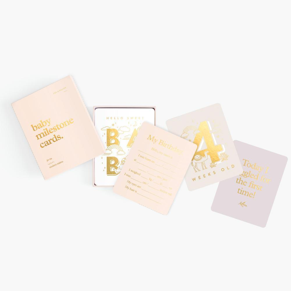 Fox & Fallow - Baby Milestone Cards - Pink