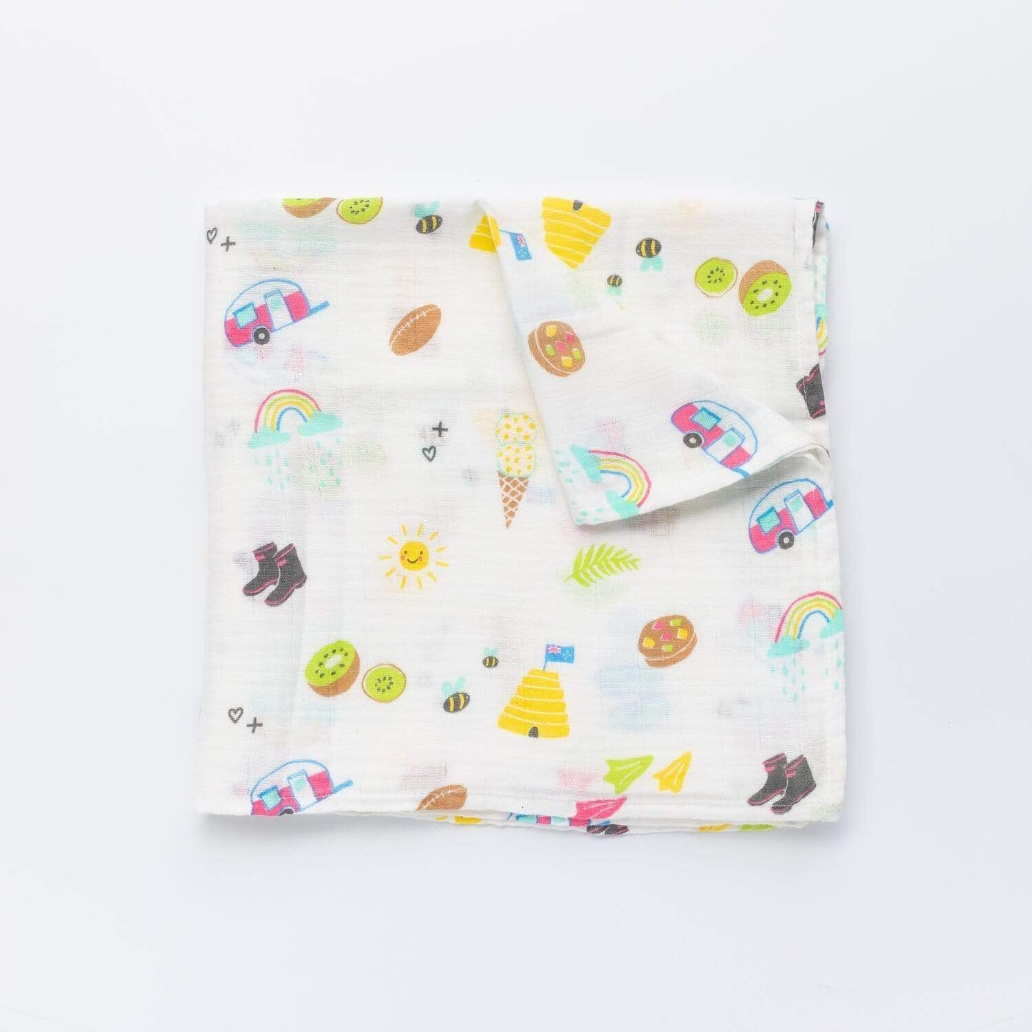 From NZ with Love- Muslin Wrap - Sunshine