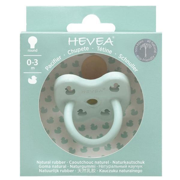 Hevea Natural Rubber Orthodontic Pacifier - Mellow Mint 0-3m