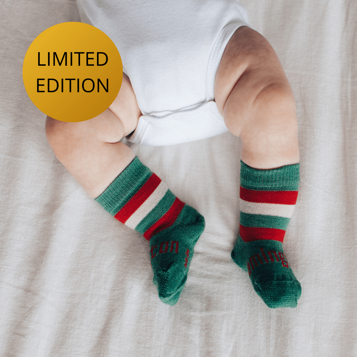 Lamington Merino Wool Crew Socks - Elf