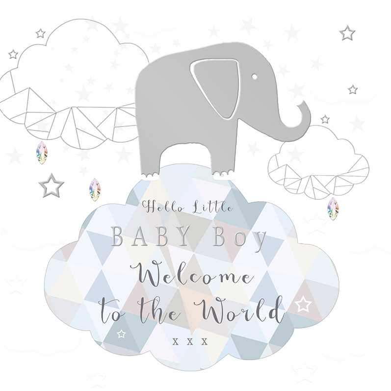 Welcome To The World Boy - Baby Card