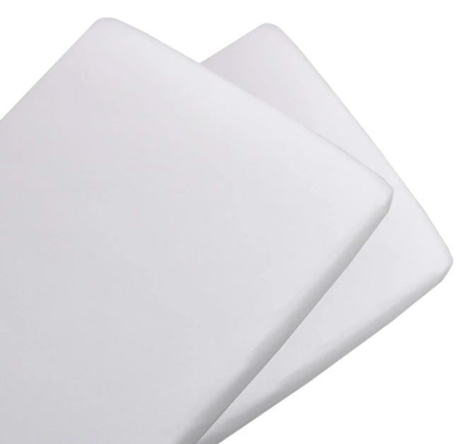 Living Textiles 2 Pack Cotton Jersey Fitted Sheet - Bassinet