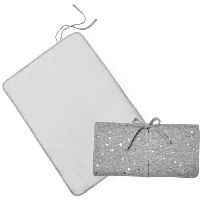 Living Textiles Waterproof Travel Change Mat - Silver Stars