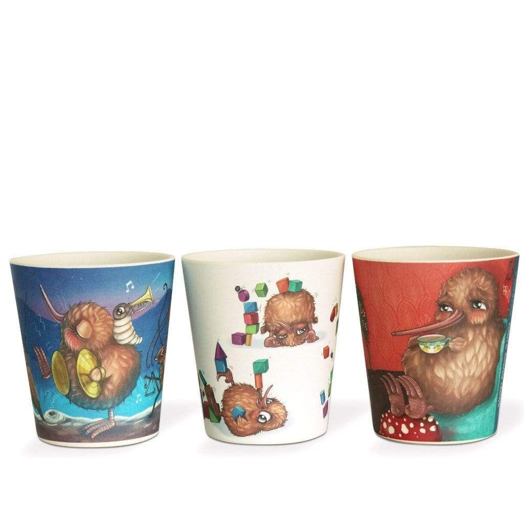 Kuwi - Bamboo Cups Set Of 3