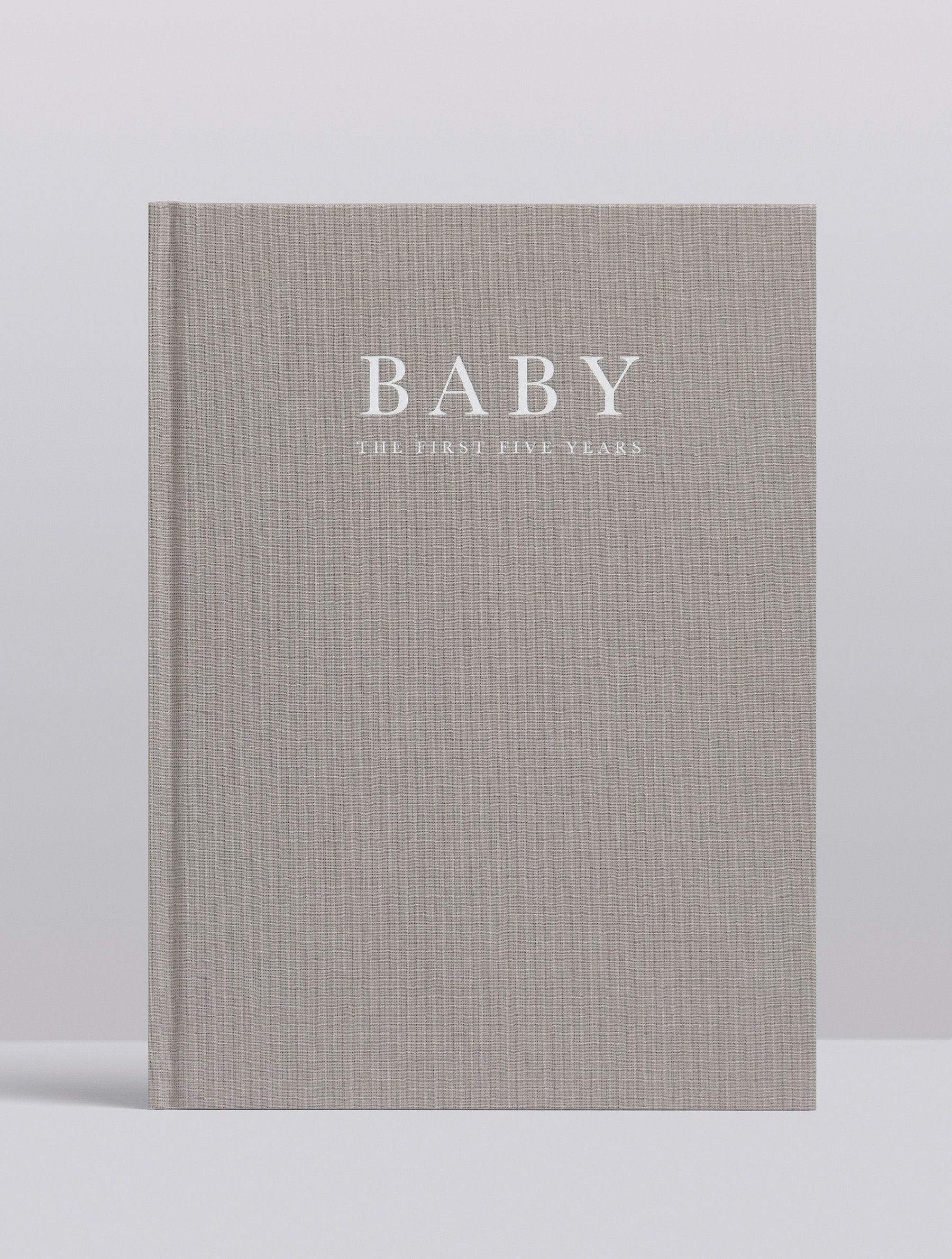 Write to Me Baby Journal - Grey