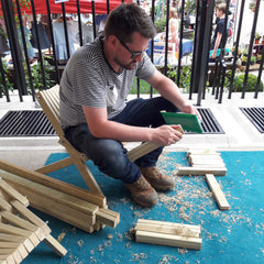 Chris making Toby Chairs