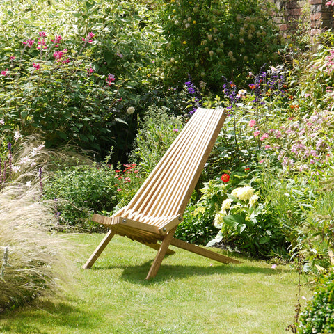 Toby Chair Timshel Design folding garden furniture handmade in UK