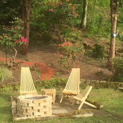Toby chairs fire pit garden